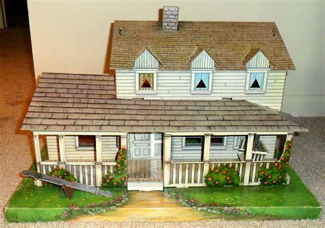 Farmhouse Kit the waltons house playset 1970s cardboard playset of the