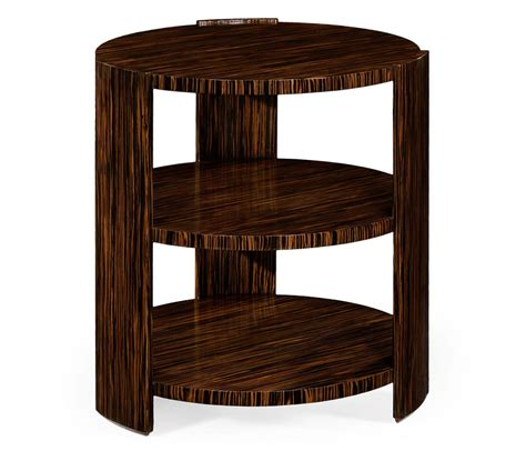3 tier side table art deco style three tier faux macassar side table