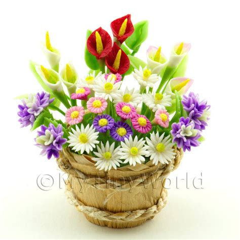 Flower Bouquets Dolls House Miniature Mytinyworld