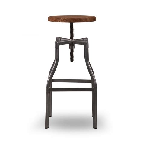 Stool With industrial machinist stool swivel stool with wood seat