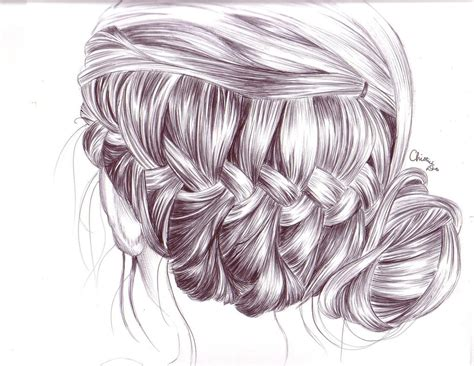 girl hairstyles drawing tumblr braid hair drawing by tinespoon d6jhv51 jpg 1017 215 786
