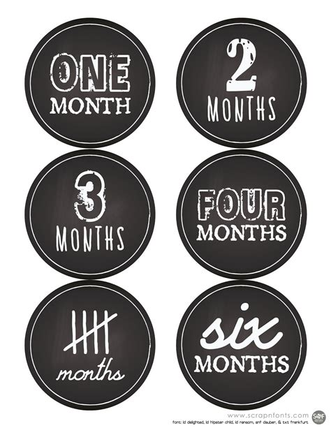 Baby Month Stickers Printable