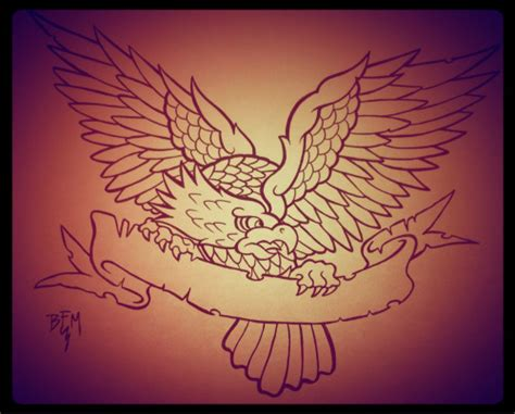 traditional eagle tattoo eagle tattoos on