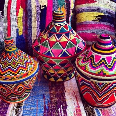 colorful baskets decorate with baskets