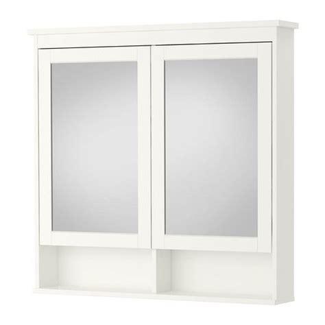 hemnes armoire 224 pharmacie 2 portes miroir blanc mirror