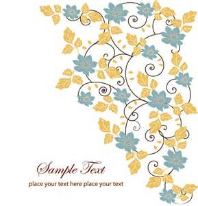 free floral swirl greeting card vector free vector graphics all free web resources for