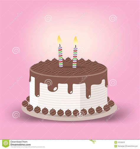 foto candele accese torta di compleanno con due candele accese illustrazione