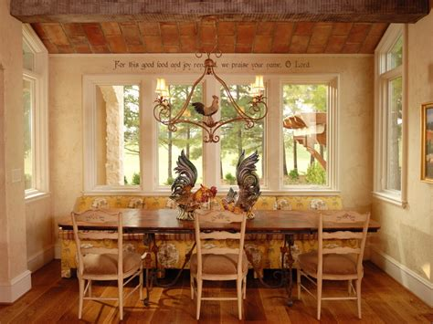 kitchen table decorating ideas country breakfast nook