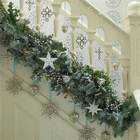 christmas decor for stairs modern world furnishing designer