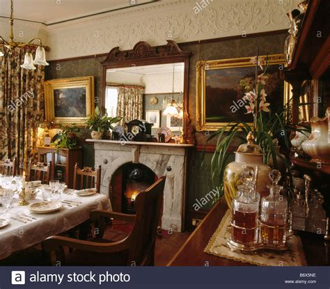 mirror  fireplace  victorian dining room  gilt