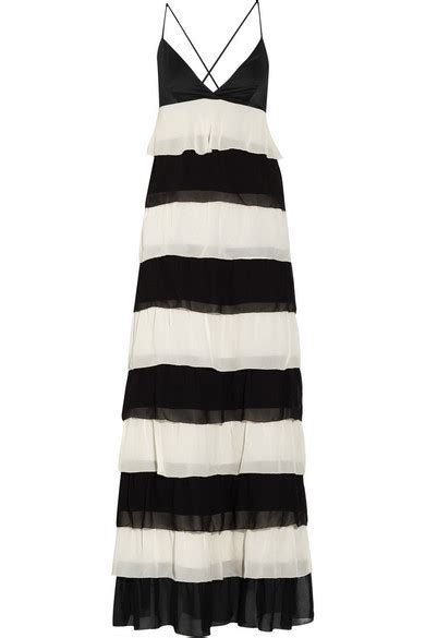 Dress Andriani by malene birger andriani tiered chiffon maxi dress