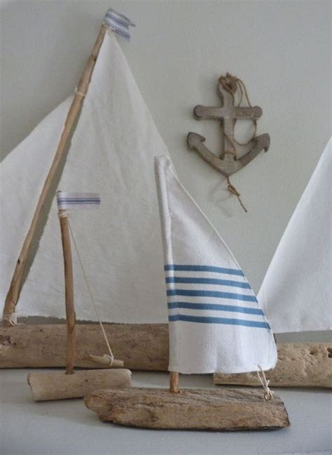 boat decor for home driftwood sailboat rustic nautical home decor