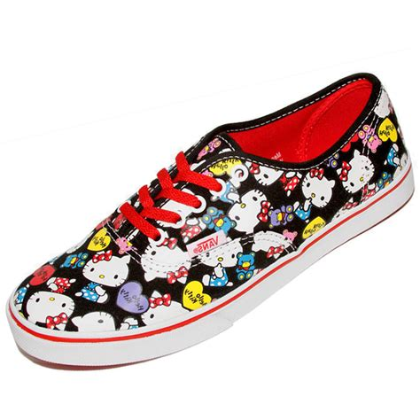 Vans Authentic Hello Kity vans vn 0ieb66z youth authentic low pro hello black
