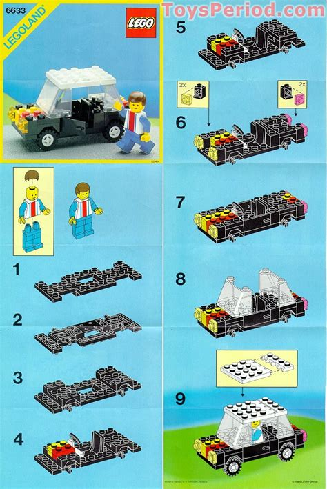 lego boat directions lego 6633 family car set parts inventory and instructions