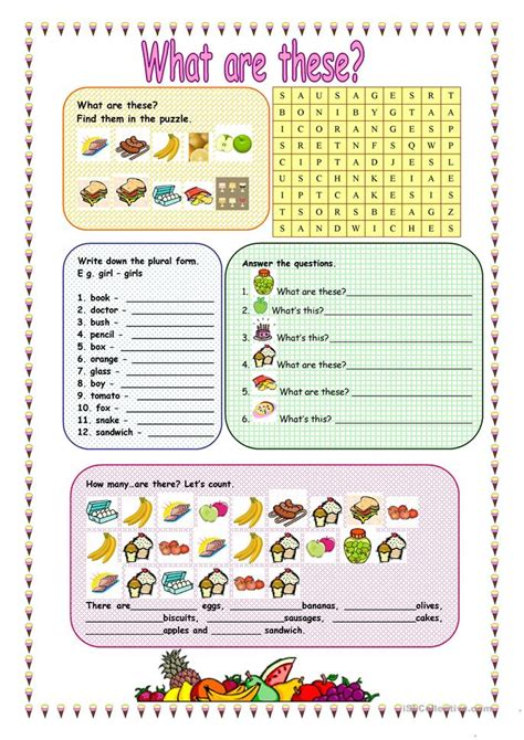 What Are These by What Are These Worksheet Free Esl Printable Worksheets
