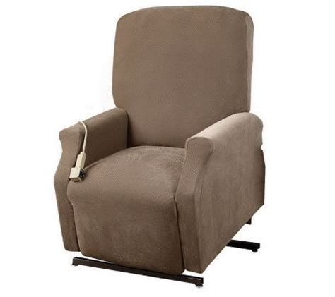 sure fit recliner slipcovers sure fit large lift recliner slipcover h350020 qvc com
