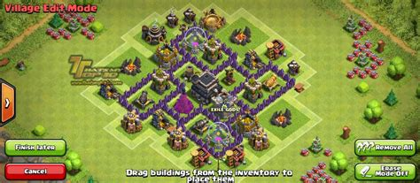 clash of clans town hall 5 defense best coc th5 hybrid base layout clash of clans town hall level 5 defense th 5 war base