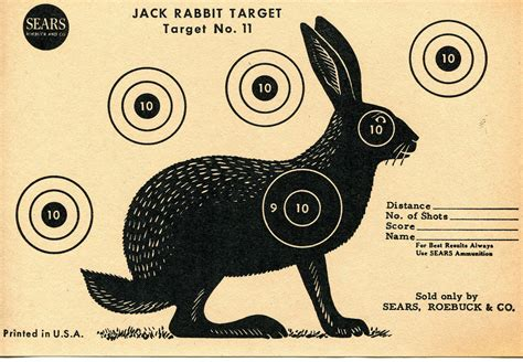 printable rabbit shooting targets vintage shooting target rabbit