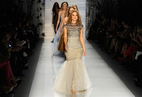 Catwalk To Carpet Menounos In Pamella Roland by New York Fashion Week Menounos Walks The Runway At