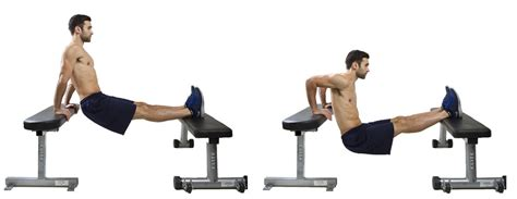 how to do a bench dip hiit exercise how to do feet elevated tricep dips hiit