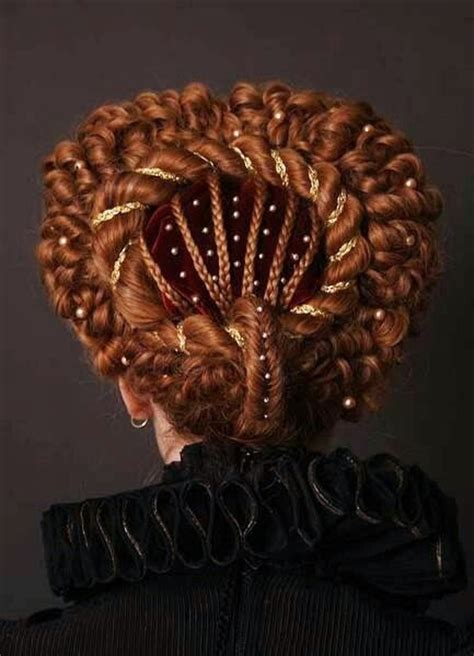 Elizabethan Hairstyles by The Journey Elizabethan Hair Styles