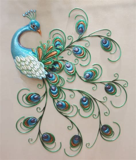 Peacock Wall Decor by Pretty Peacock Wall Decor Hanging Metal Sculpture