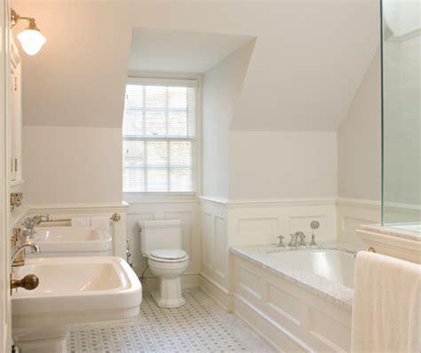 original bathrooms wood wainscoting around tub