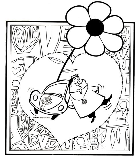 herbie fully loaded coloring page coloring pages