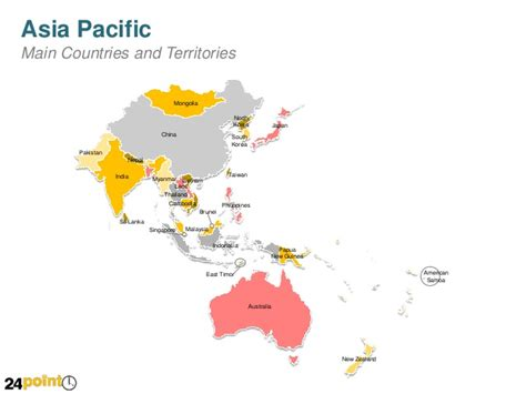 asia pacific map with country names asia pacific country maps powerpoint slides