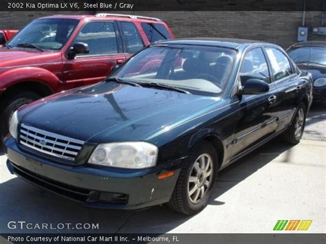steel blue 2002 kia optima lx v6 gray interior
