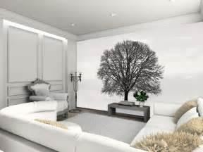 Fototapete Wohnzimmer Schwarz Weiss Fototapete Baum Im Winter Schwarz Wei 223 Riesen Wandbild