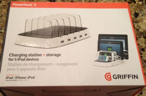 countertop charging station griffin technology power dock 5 charging station who