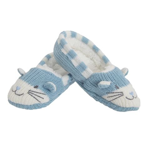 toddler cat slippers childrens knitted cat design soft slippers with
