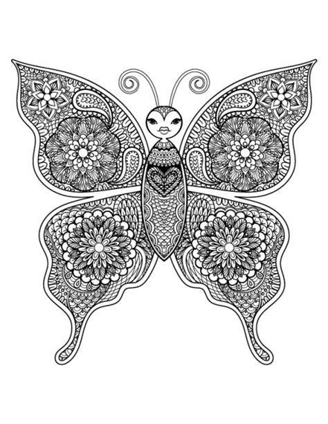 advanced butterfly coloring pages beautiful butterfly art therapy beautiful coloring and