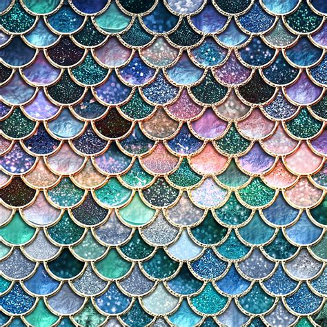 Teal Home Decor quot teal silver and pink sparkle faux glitter mermaid scales