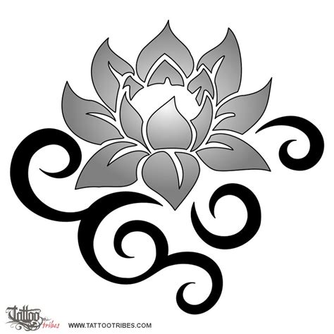 lotus flower tribal tattoo tribal lotus flower drawing