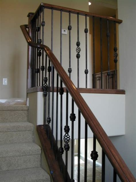Iron Stair Banister by Wrought Iron Stair Railing Idea Robinson House