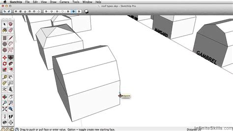 tutorial layout sketchup pro sketchup pro 2014 tutorial creating a gambrel roof youtube