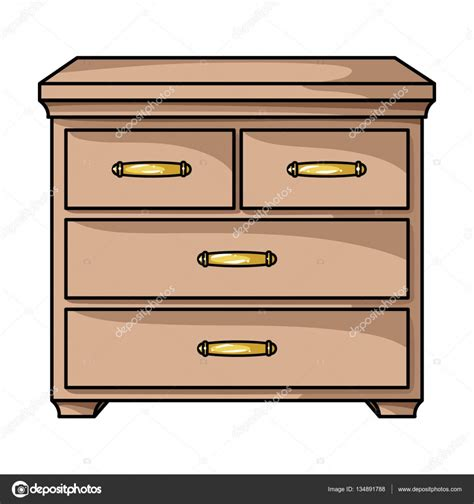 wooden cabinet with drawers wooden cabinet with drawers icon in style isolated