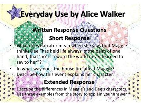 Walker Everyday Use Essay by Everyday Use Written Response Questions
