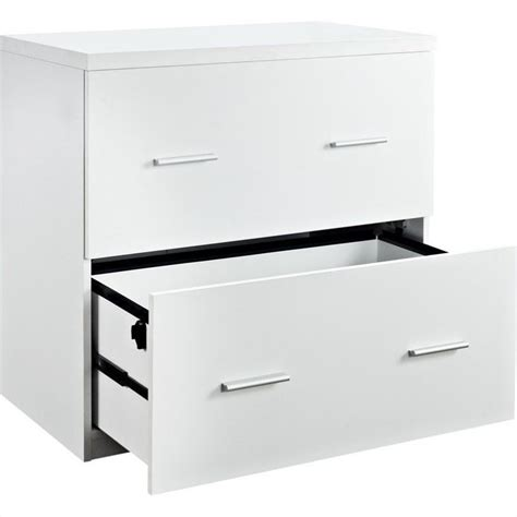 White Lateral File Cabinet 2 Drawer Altra Furniture Princeton 2 Drawer Lateral File Cabinet In White 9532196