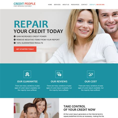 Credit Repair Business Website Template Responsive Website Templates Design Psd With Html5 Css