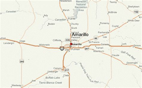 map of texas showing amarillo amarillo location guide