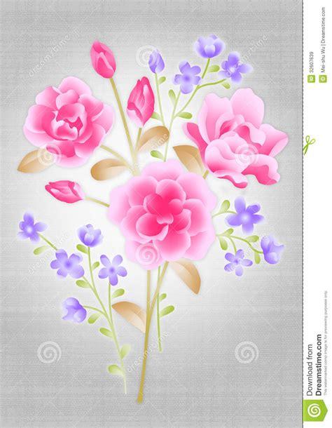 design flower bouquet beautiful flower bouquet design stock illustration