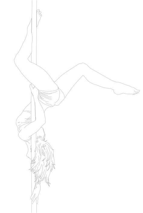 Dancer Outline by Pole Dancer Drawing Www Pixshark Images Galleries With A Bite