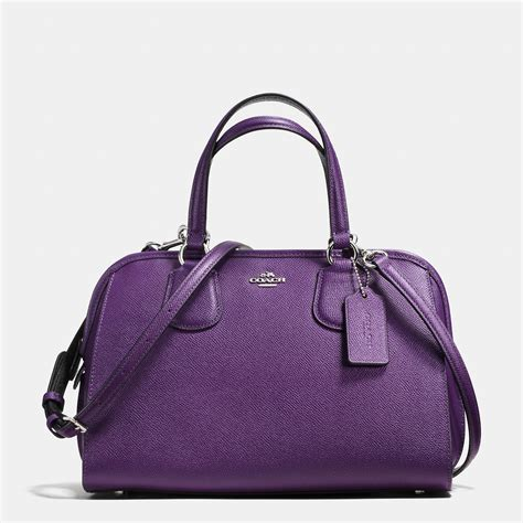 Style Violet Charmed Zipper Tote by Coach Nolita Leather Satchel In Purple Lyst