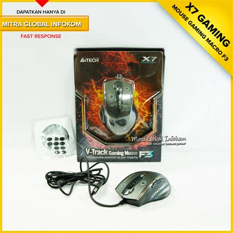Mouse Gaming Macro X7 jual mouse gaming macro a4tech x7 f3 mitra global infokom