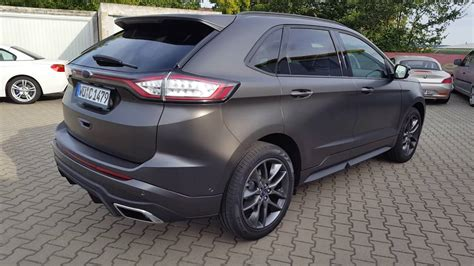 ford edge komplettfolierung in satin pearl nero by cr