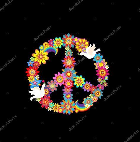 simbolo fiore simbolo fiore di pace con le colombe di carta