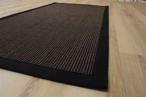 teppich 300x400 sisal teppich santos mit bord 252 re gemustert ebenholz